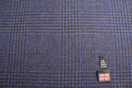100% Pure New Wool Glen Check Fabric | BZ56